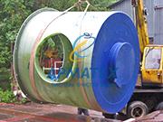 Распределительный колодец ливневой канализации